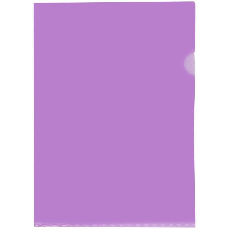 Папка-угол (карман) OfficeSpace 0,15мм прозрачная фиолетовая