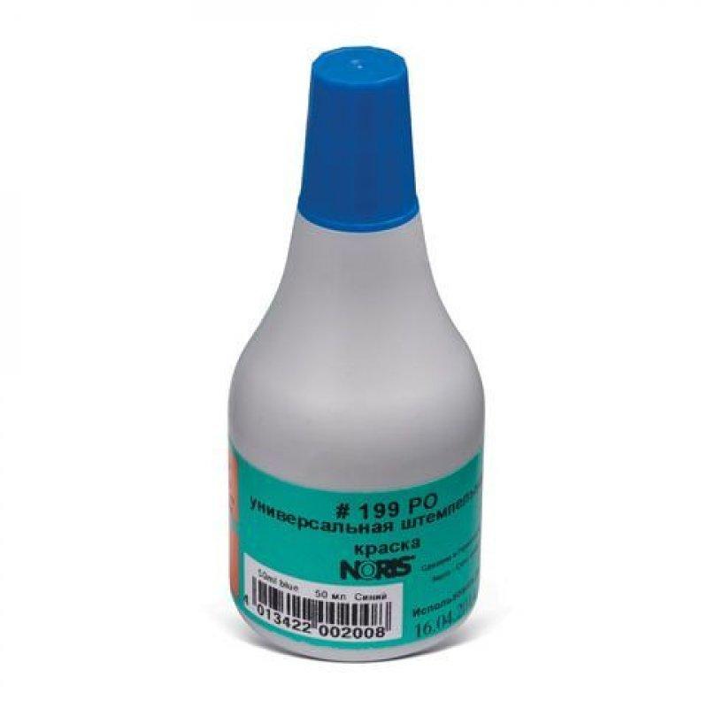Штемпельная краска Noris 50мл синяя на спирт основе универс. для документов, стали, бетона, стекла
