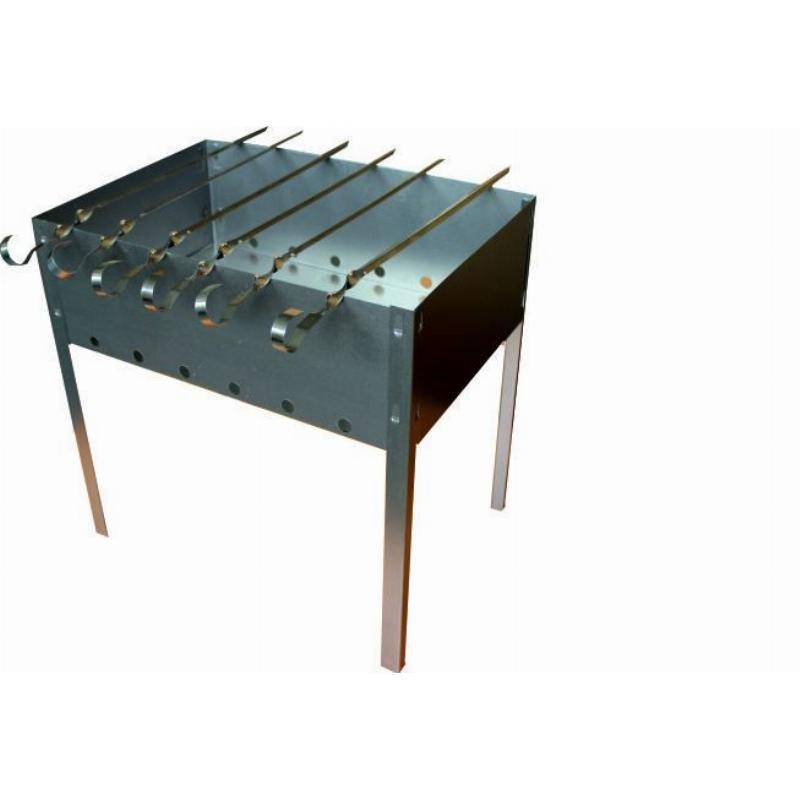 Мангал Походный 350х240 сборный и 6 шампуров в коробке
