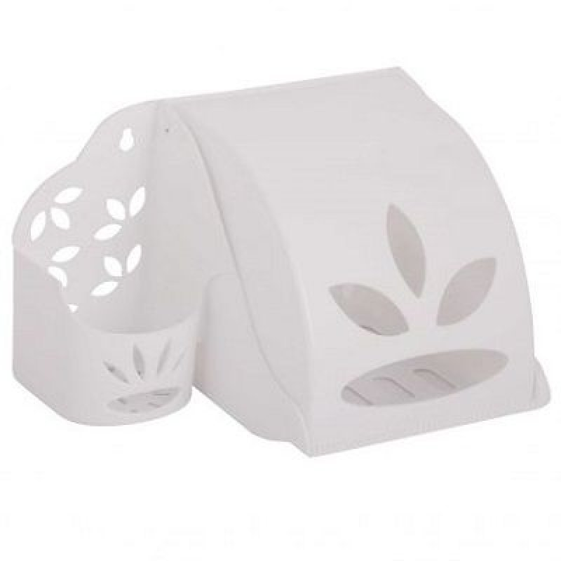 Держатель для туалетной бумаги и освежителя воздуха пластиковый