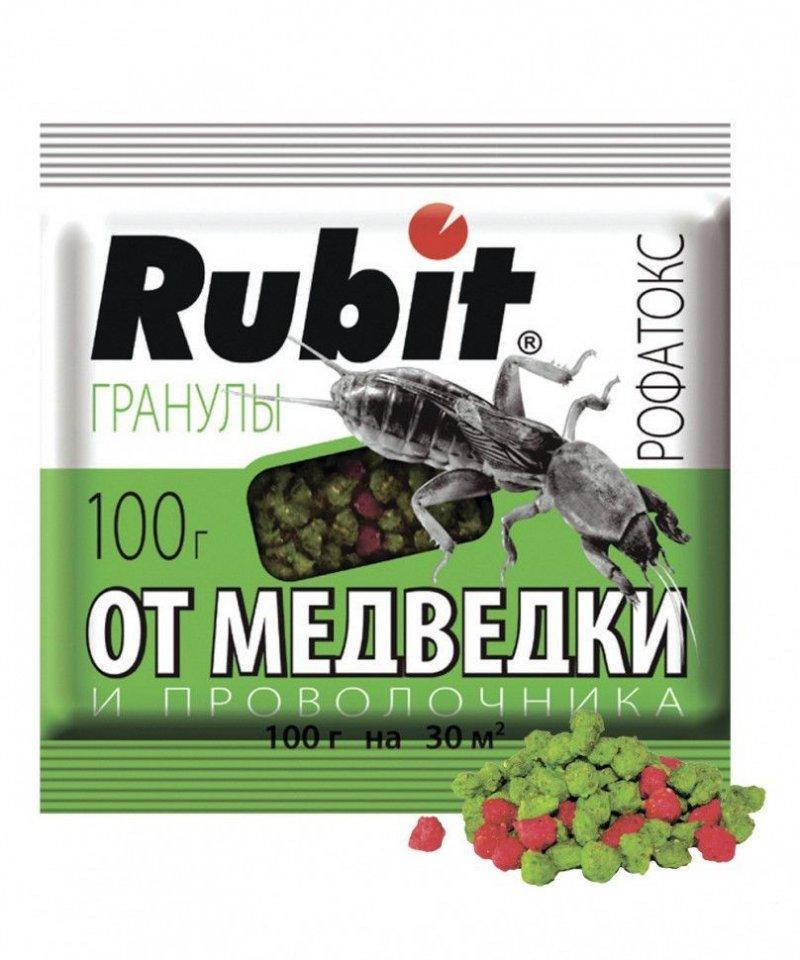 Инсектицид от медведки, колорадского жука и проволочника Rubit 100 г