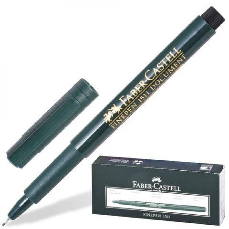 Ручка капиллярная  Faber-Castell Finepen 0,4мм темно-зеленый корпус черная