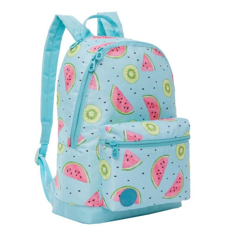 Рюкзак школьный Grizzly 1 отделение 1 карман арбуз киви