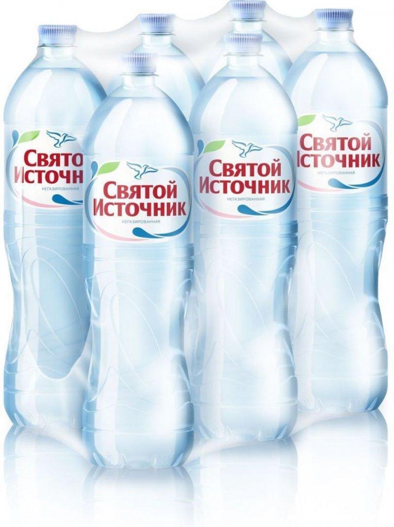 Вода питьевая негазированная Святой источник 1,5л