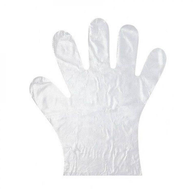 Перчатки полиэтиленовые усиленные одноразовые L 50пар/уп