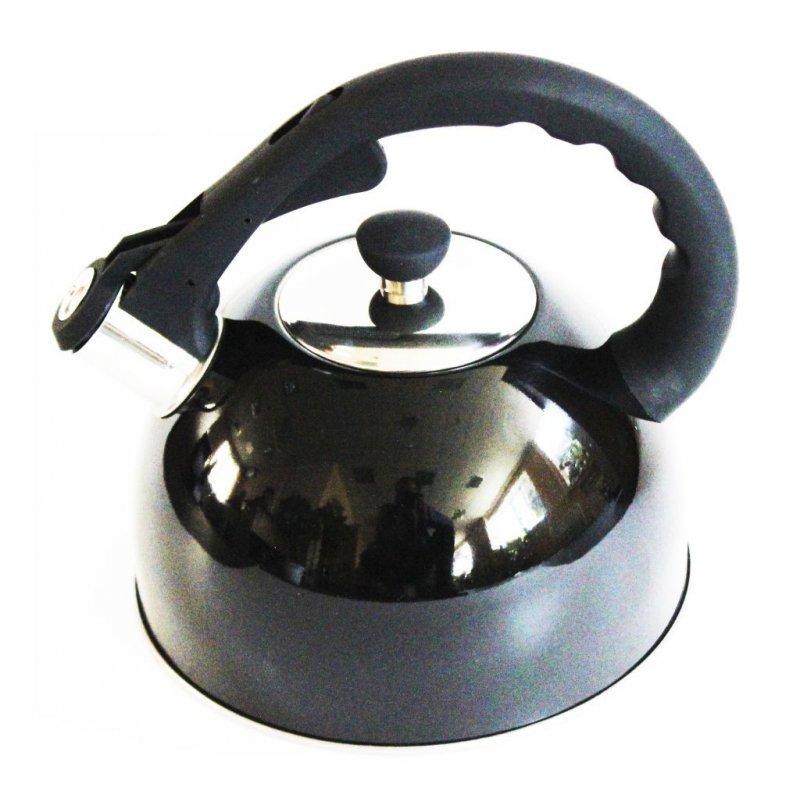 Чайник 3л Daniks со свистком нерж черный