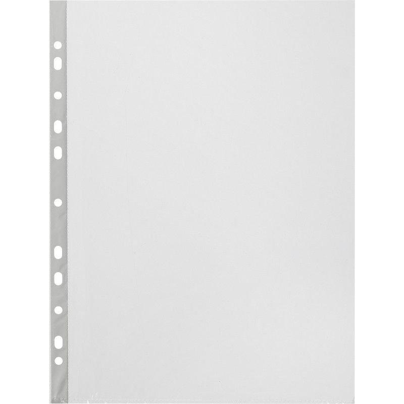 Папка-файл прозрачная с перфорацией А4 Attache 100шт/уп 45мм гладкая