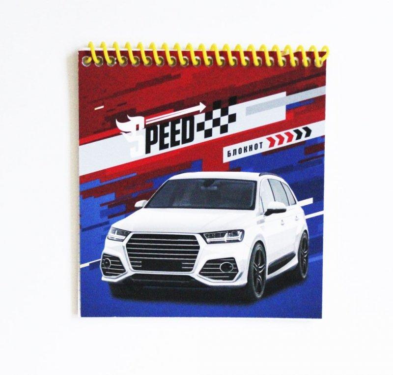 Блокнот A6 40л Авто на красно-синем цв спираль