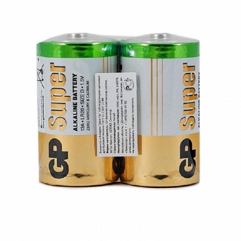 Батарейка GP Super Alkaline LR20 D (цена за 1 шт)