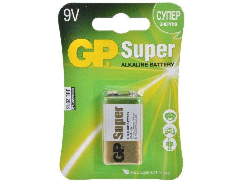 Батарейка GP Super Alkaline 9V крона (1шт в блистере)