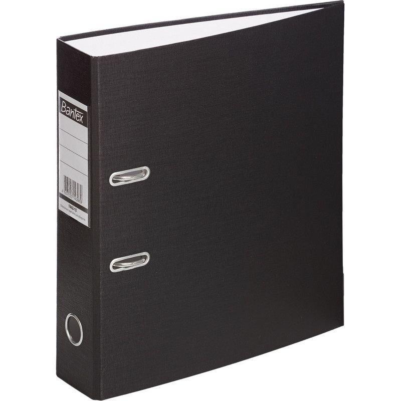 Папка-регистратор 70мм Bantex Economy бумвинил карман черная