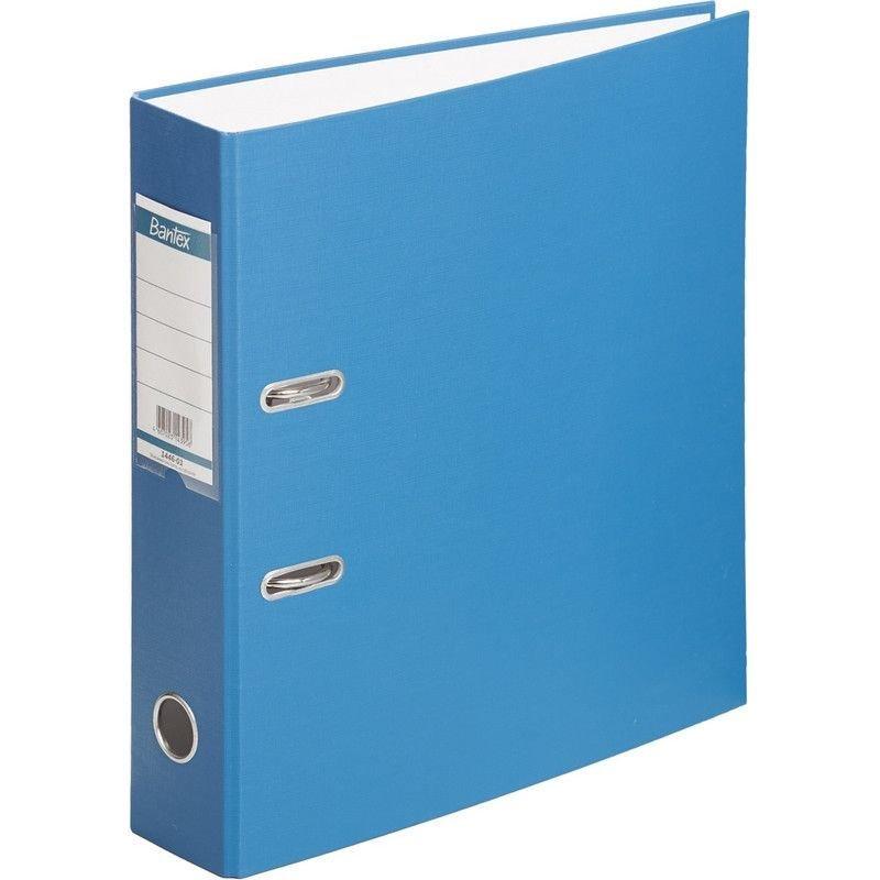Папка-регистратор 70мм Bantex Economy бумвинил карман синяя