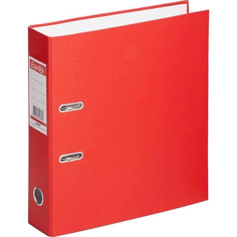 Папка-регистратор 70мм Bantex Economy бумвинил карман красная
