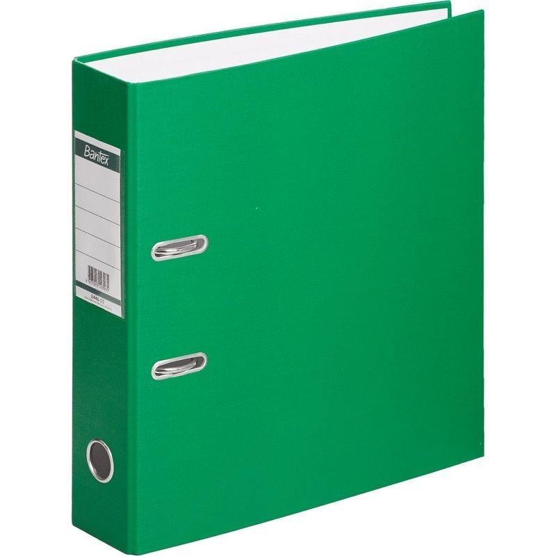 Папка-регистратор 70мм Bantex Economy бумвинил карман зеленая