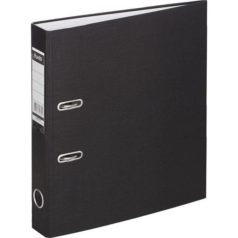 Папка-регистратор 50мм Bantex Economy бумвинил карман черная