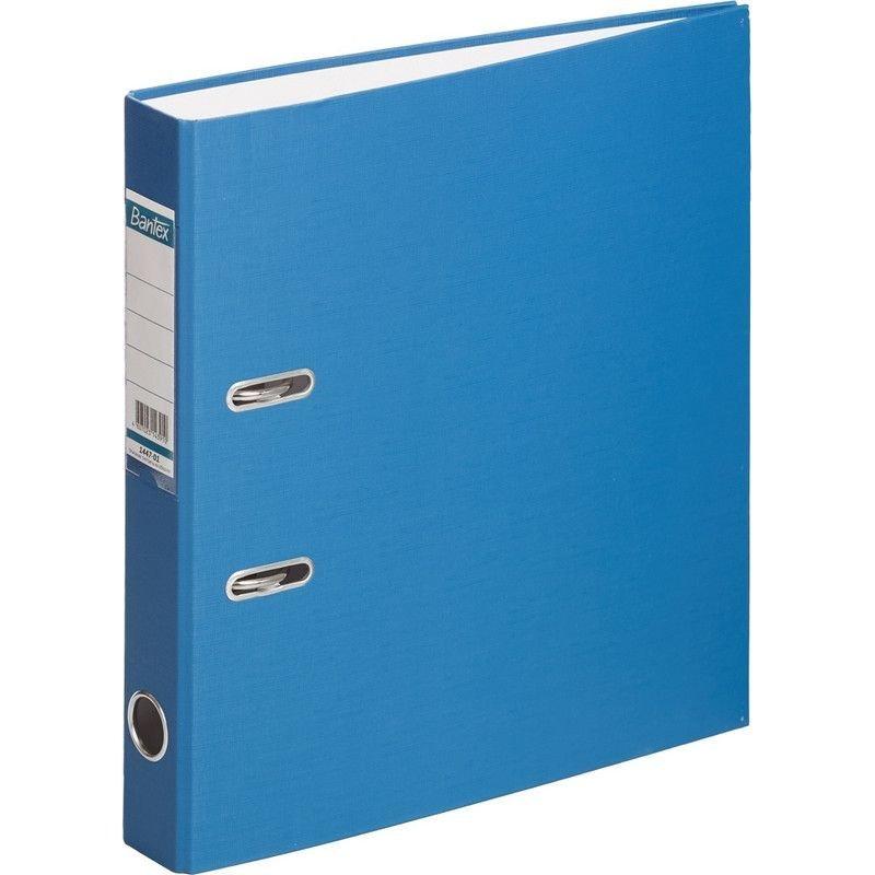 Папка-регистратор 50мм Bantex Economy бумвинил карман синяя