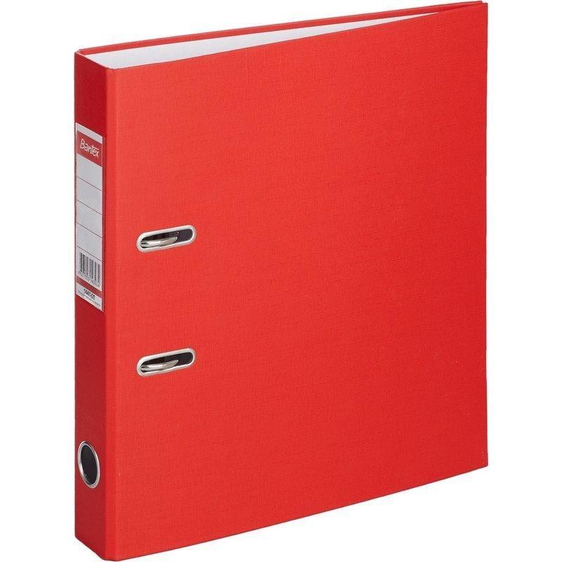 Папка-регистратор 50мм Bantex Economy бумвинил карман красная