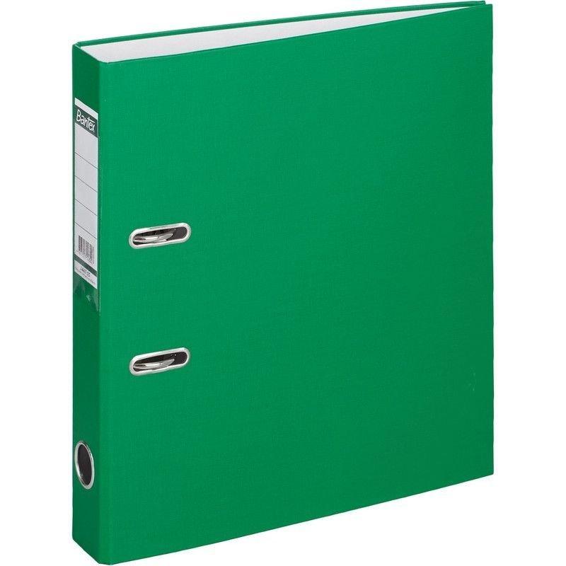 Папка-регистратор 50мм Bantex Economy бумвинил карман зеленая