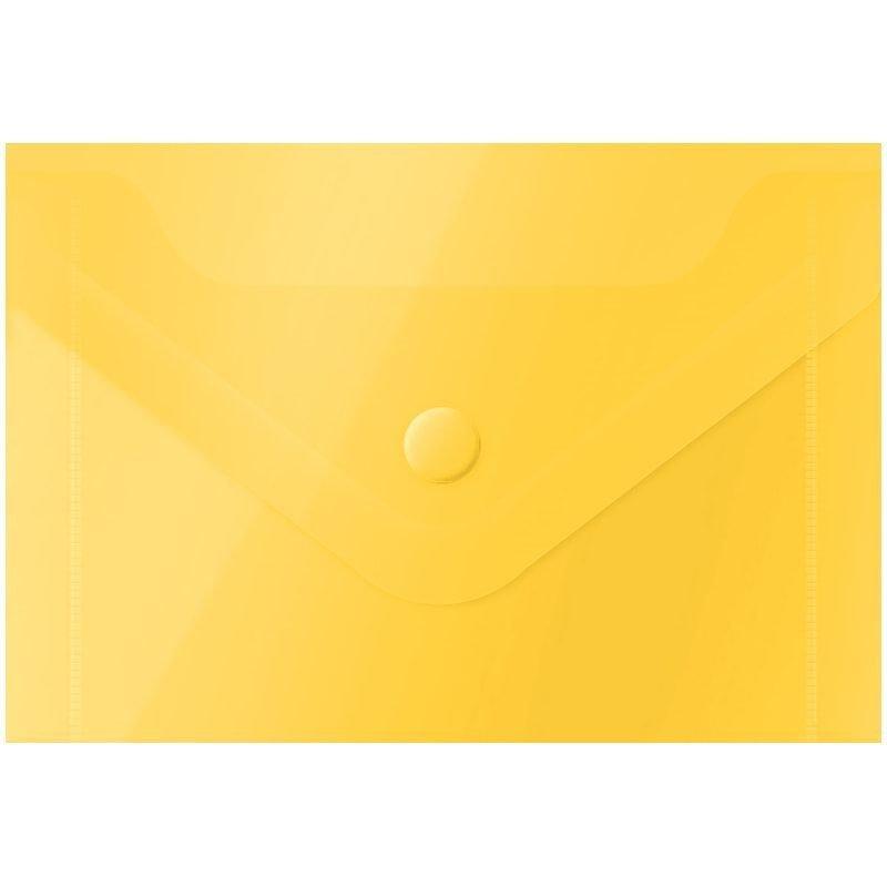 Папка-конверт с кнопкой А7 OfficeSpace 0,15мм желтая