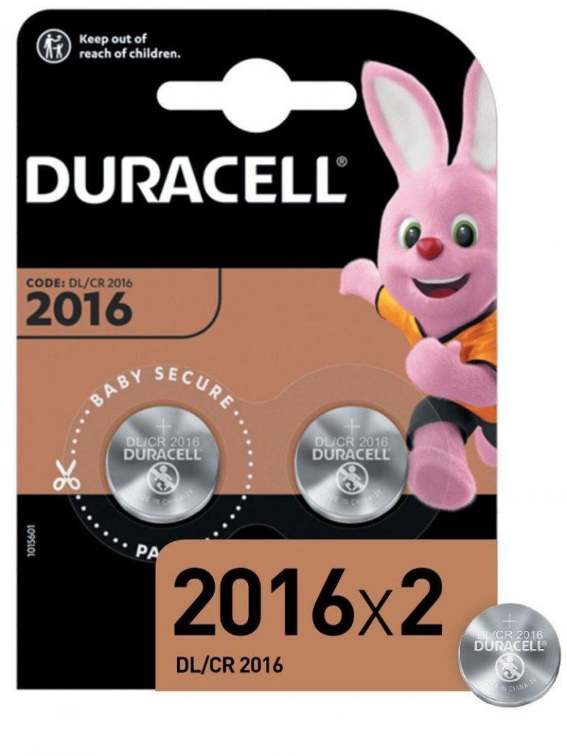 Батарейка Duracell CR2016 (КОМПЛЕКТ 2шт в блистере)