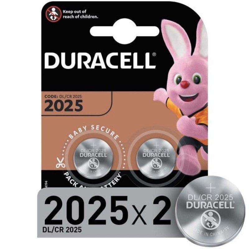 Батарейка Duracell CR2025 (КОМПЛЕКТ 2шт в блистере)