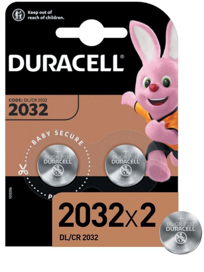 Батарейка Duracell CR2032 (КОМПЛЕКТ 2шт в блистере)