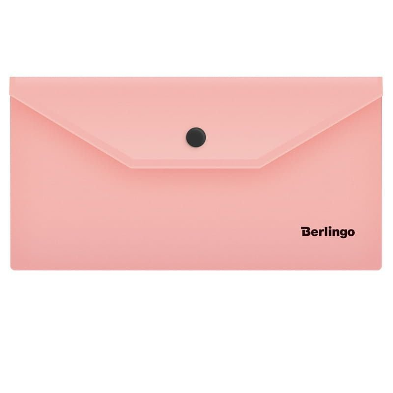 Папка-конверт с кнопкой С6 Berlingo 0,18мм фламинго