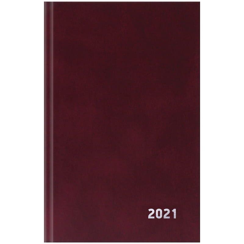 Ежедневник датированный A5 2021г бордовый