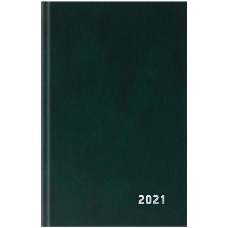 Ежедневник датированный A5 2021г 168л OfficeSpace зеленый