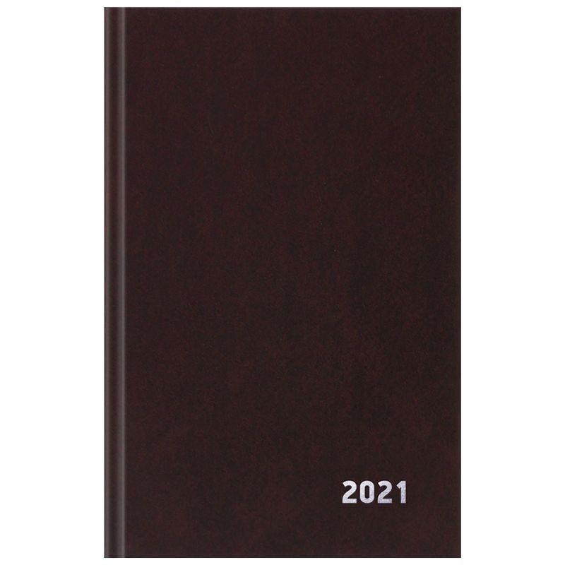 Ежедневник датированный A5 2021г 168л OfficeSpace коричневый