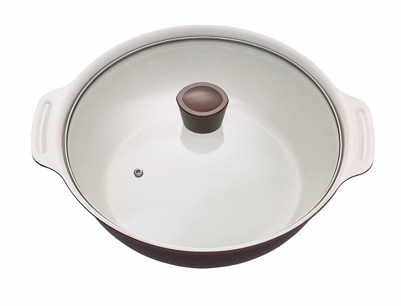 Кастрюля 4,5л Япония керамическое покрытие Черная