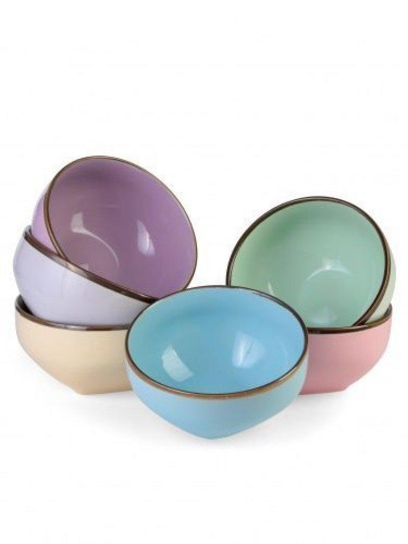 Набор салатников Радуга 6 предметов 550 мл (керамика)