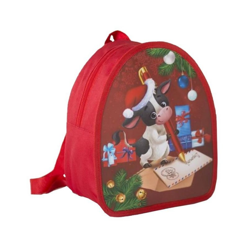 Рюкзак детский Новогодний бычок