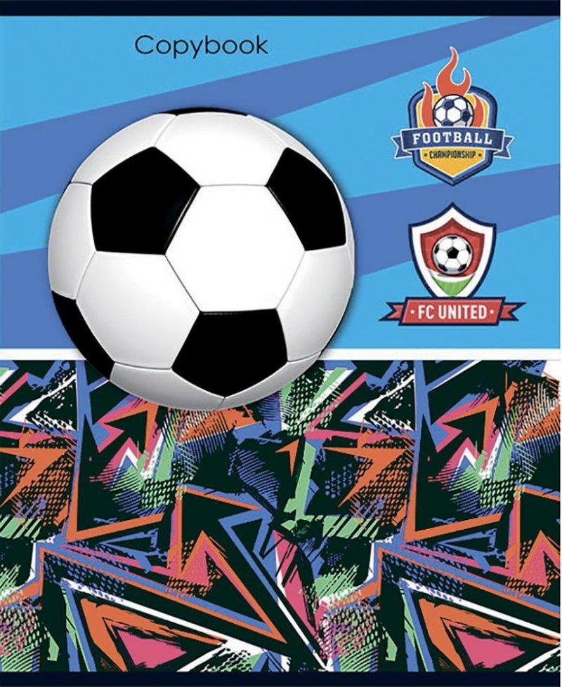 Тетрадь 48л Remix Футбольная тема клетка