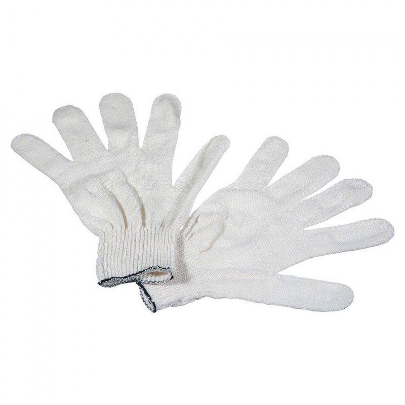 Перчатки х/б 5 ниток без ПВХ манжета белые