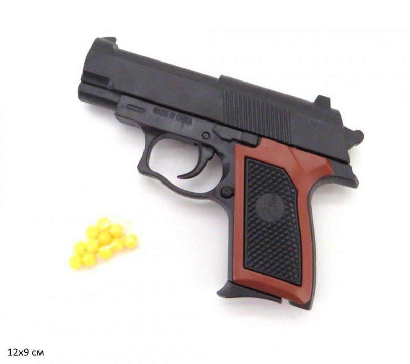 Пистолет  с пульками  в пакете каробке