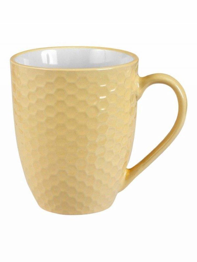 Кружка Соты 510 мл (керамика) Жёлтый
