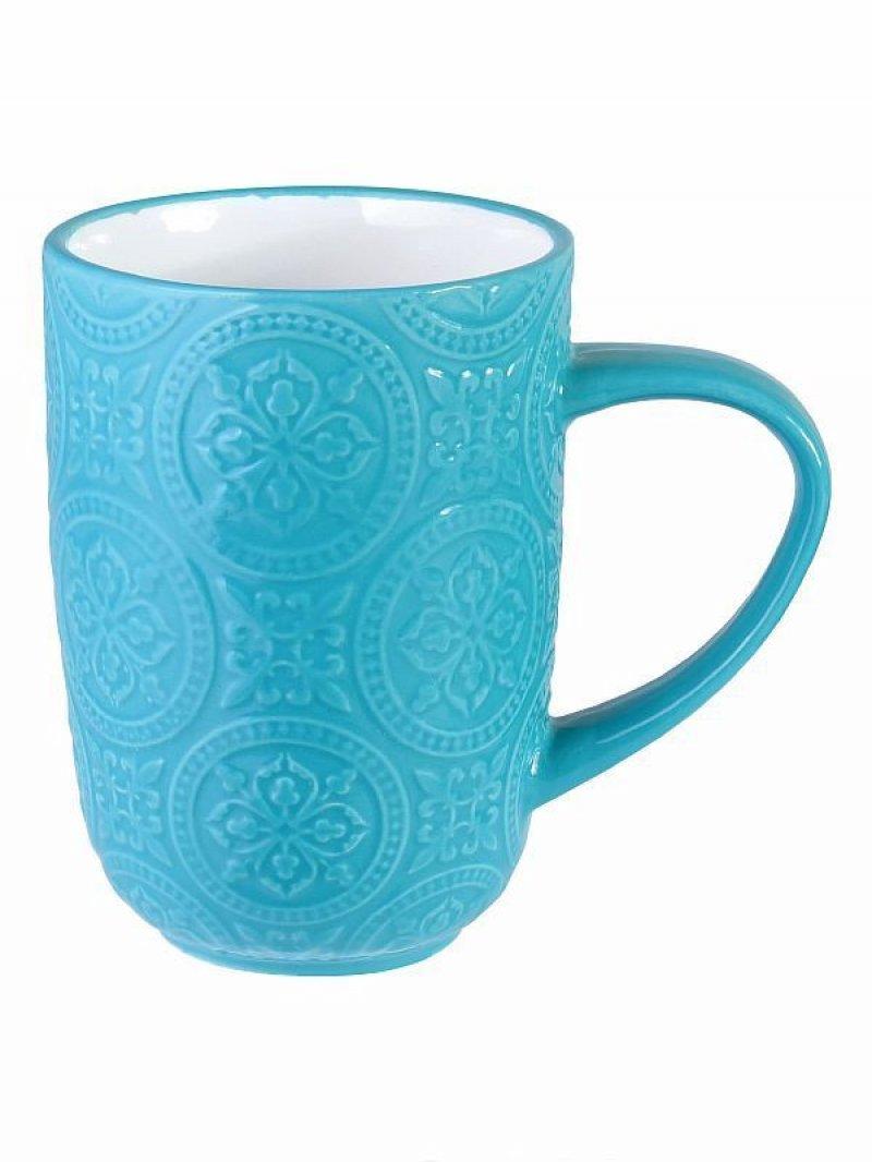 Кружка Узор 410 мл (керамика) Голубой
