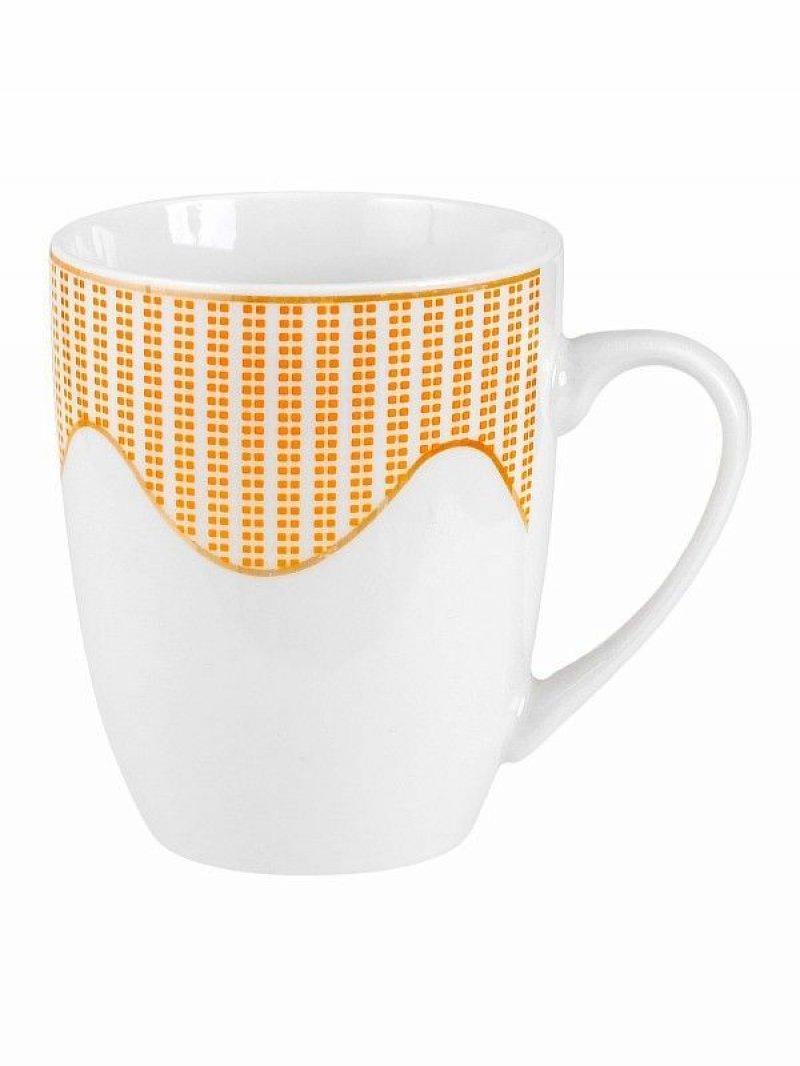 Кружка Волна 360 мл (фарфор) Жёлтый