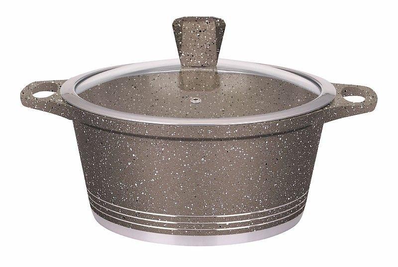 Кастрюля Везувий 2,1л с покрытием GMM Серый