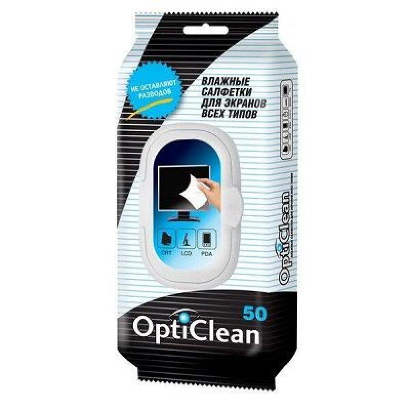 Салфетки влажные OptiClean  для экранов 50шт/уп