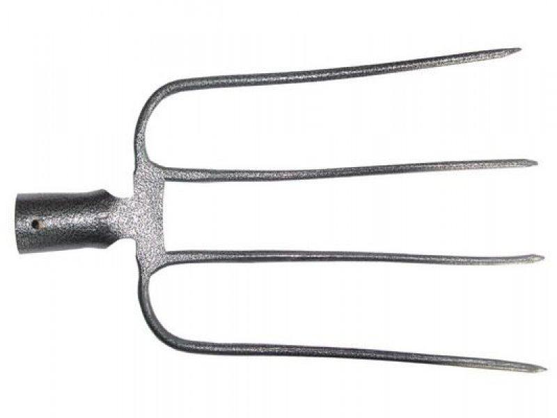 Вилы навозные 4 рогие кованые рельс сталь без черенка