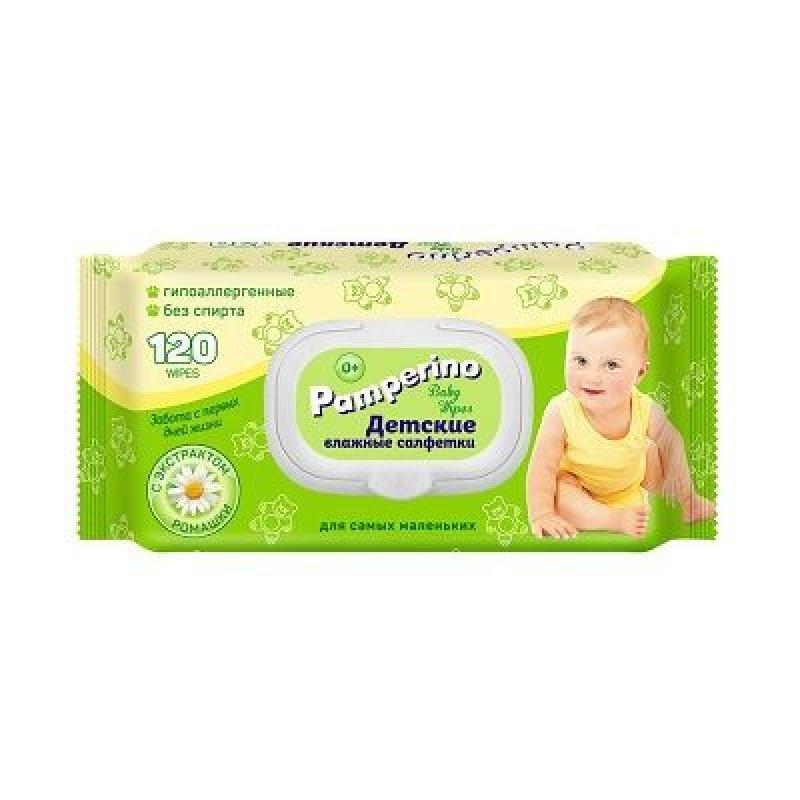 Салфетки влажные Pamperino детские с ромашкой 120шт/уп