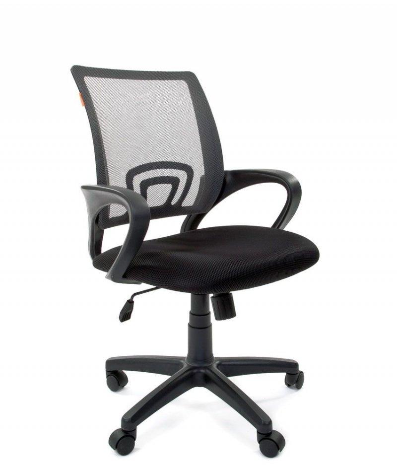 Кресло для оператора Chairman CH-696 с подлокотниками ткань серое TW-04