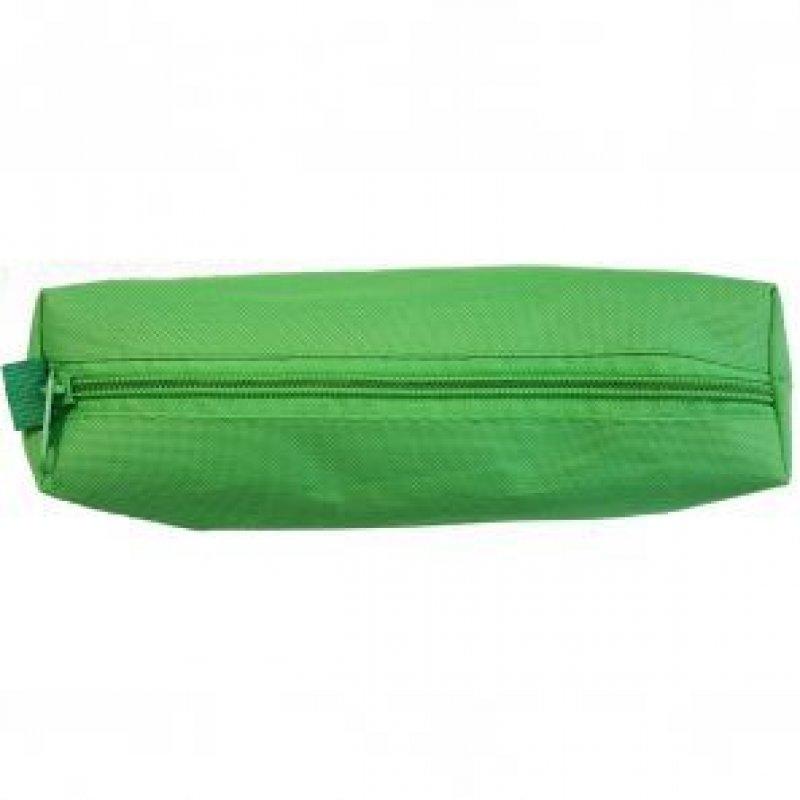 Пенал-тубус мягкий на молнии 210х45х55 зел/синий/черный