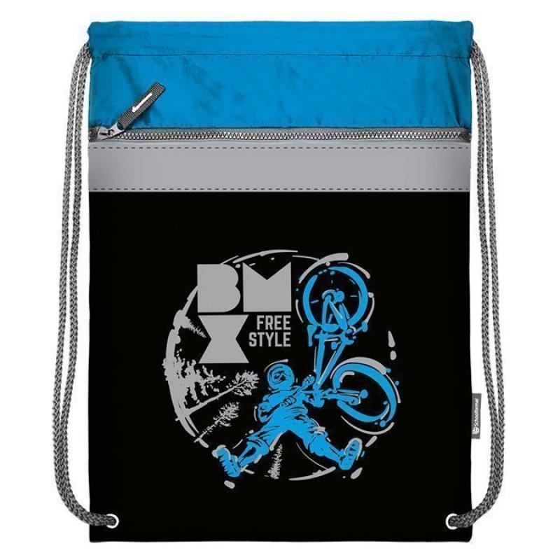 Мешок для обуви Schoolformat 49х41большой с карманом серия Freestyle BMX