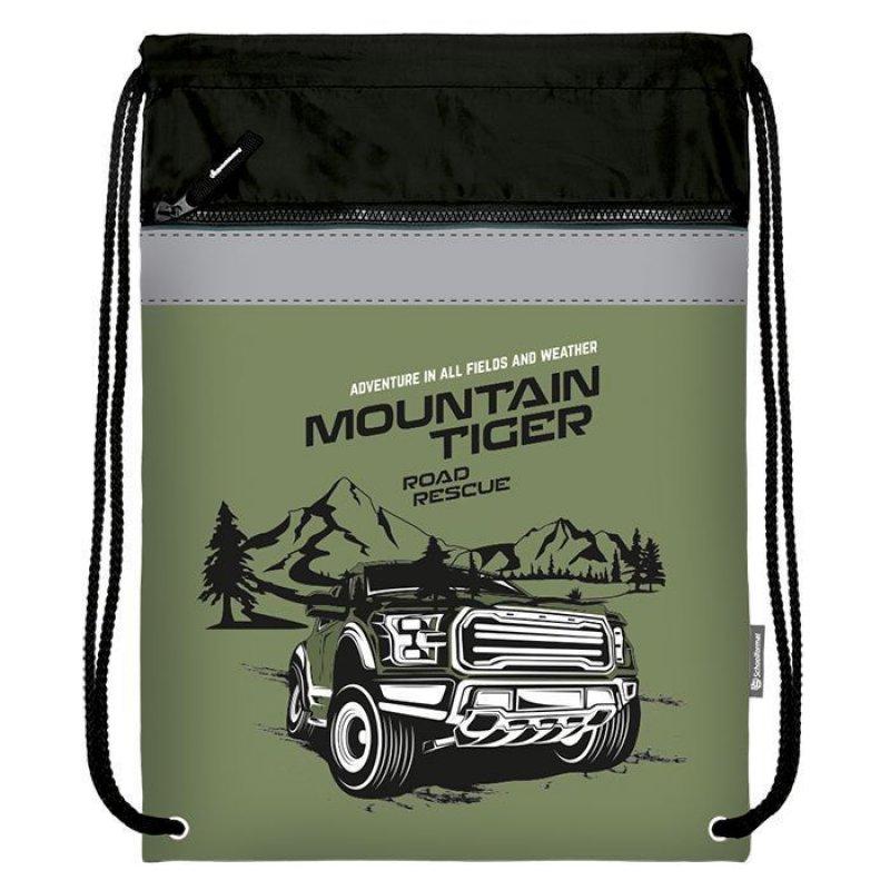 Мешок для обуви Schoolformat 49х41большой с карманом серия Mountain tiger