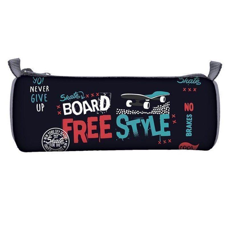 Пенал-тубус 1 отд Freestyle Skate 210х65 ткань с подкладом