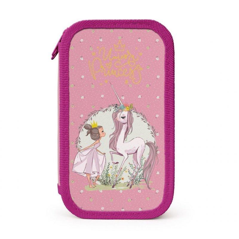 Пенал 2 отд Princess and unicorn 190х105