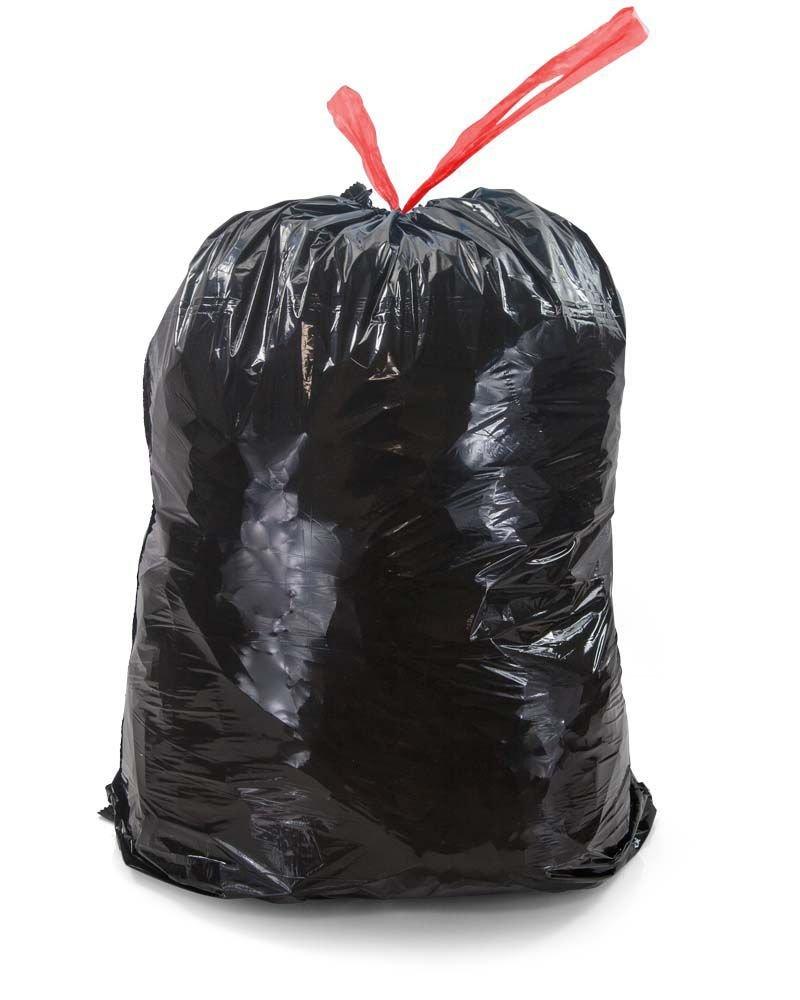 Мешки для мусора 60л  60х68см 25мкм 10шт/рул Стандарт с завязками черн ПВД